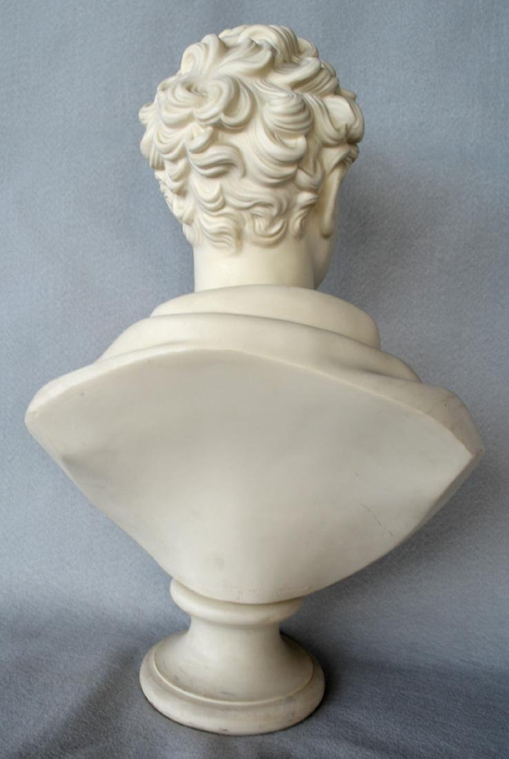 Copeland classical parian bust of Lord Byron signed - 2