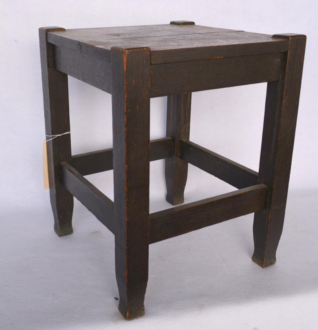 Mission oak stool – mortised construction. Early 20th