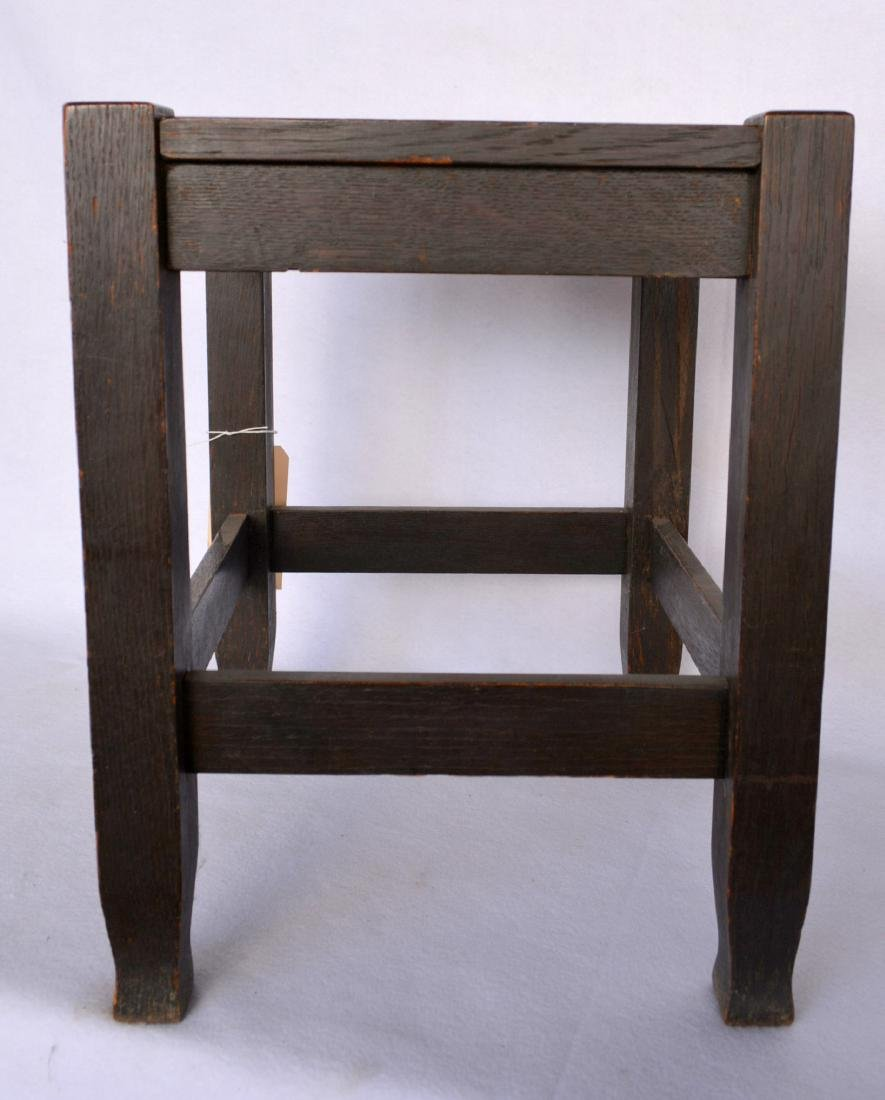 Mission oak stool – mortised construction. Early 20th - 2