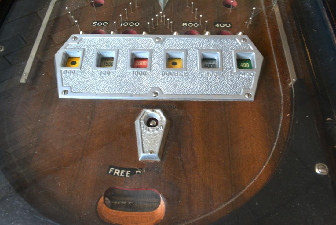 Rare floor standing pinball game, non-electric, in - 5