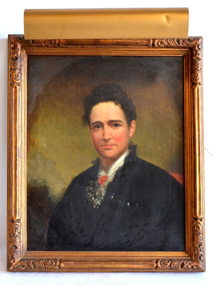 """O/C Portrait Edwardian lady – 16.25"""" x 20"""". Note"""