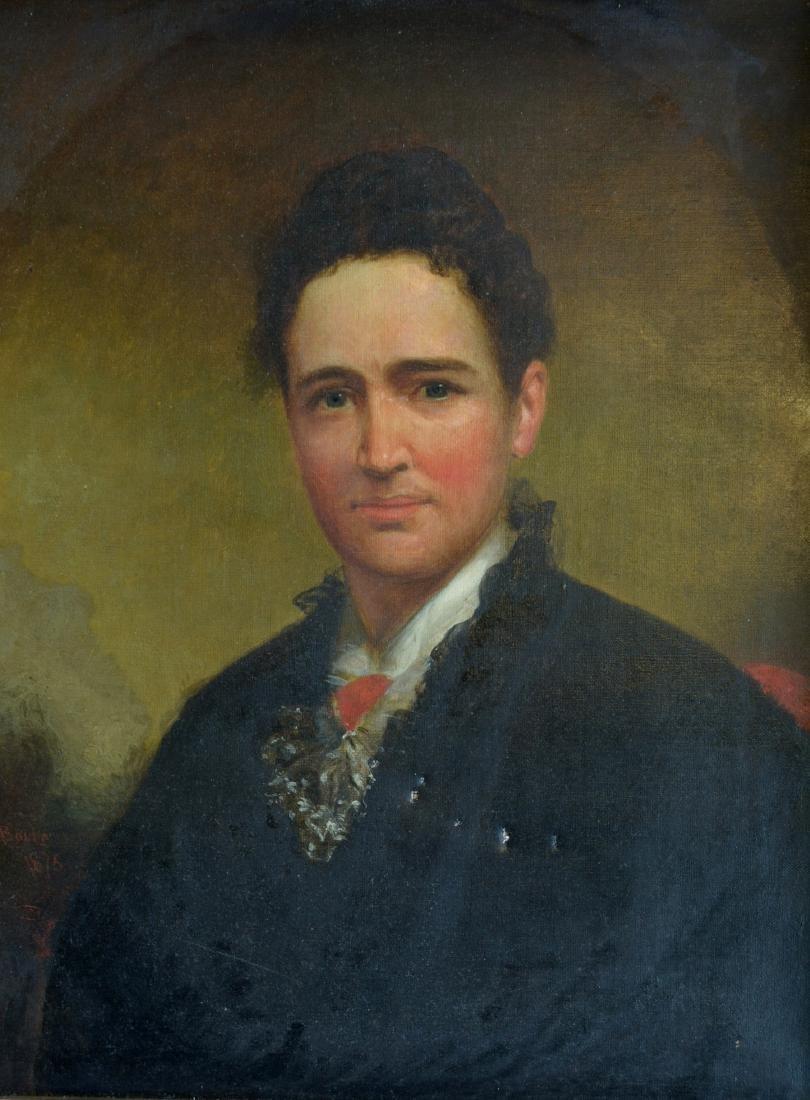 """O/C Portrait Edwardian lady – 16.25"""" x 20"""". Note - 2"""