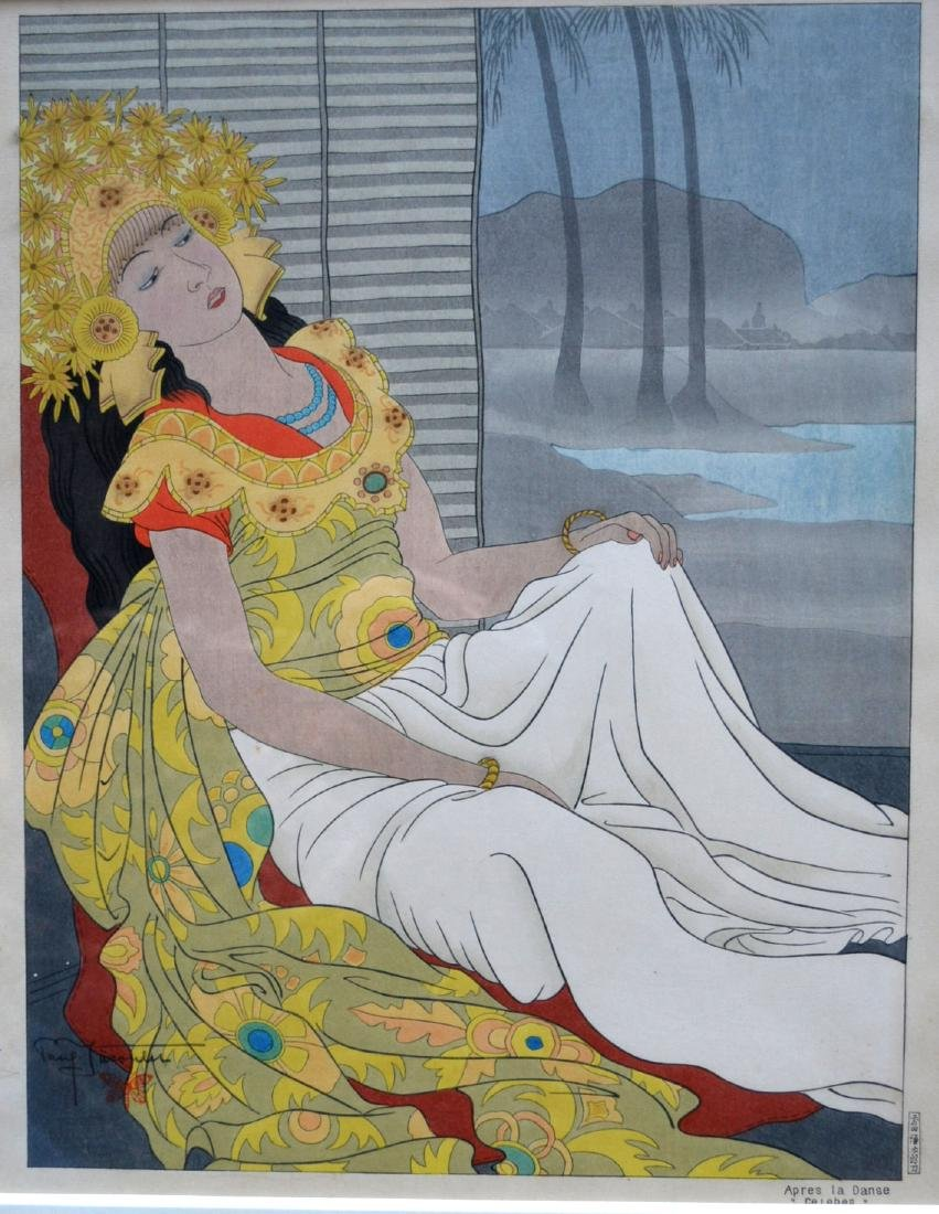 Paul Jacoulet (French 1902-1910). Wood block print of - 2