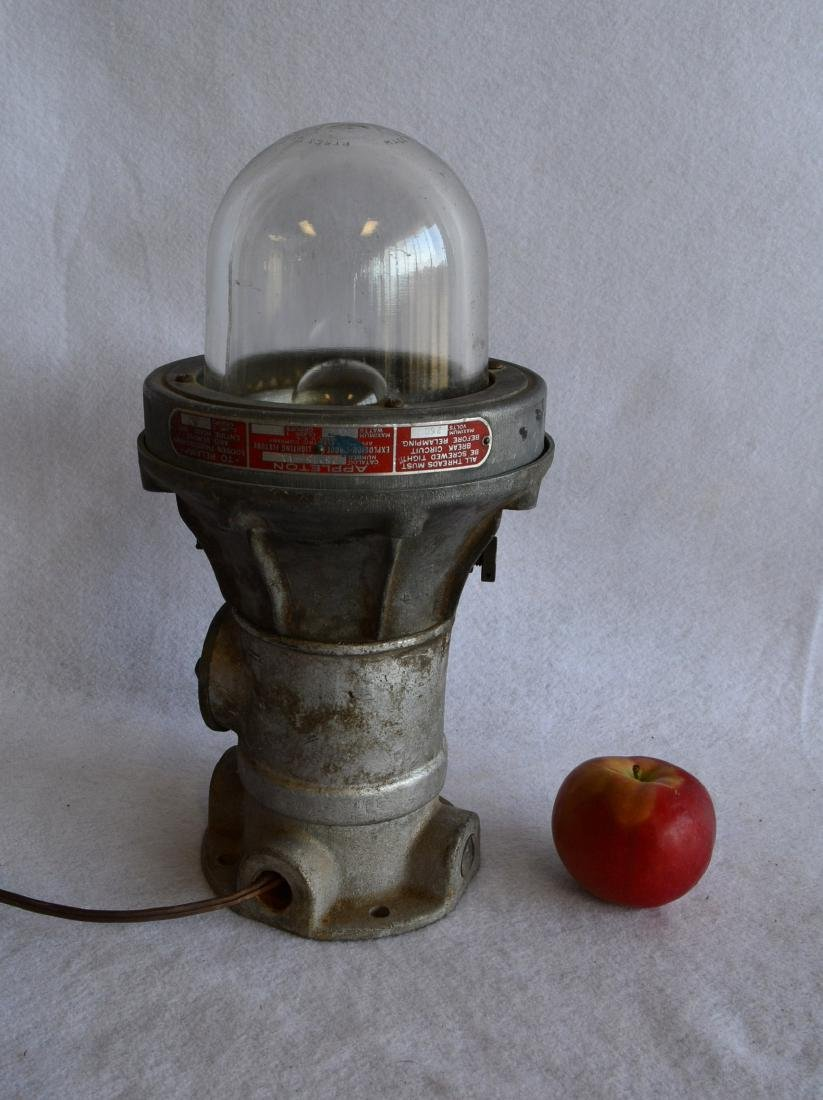 Appleton industrial light with original Pyrex glass