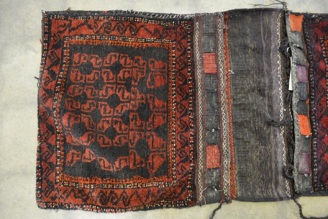 "Oriental tribal saddle blanket, 56""L x 24""W. Sides of - 2"