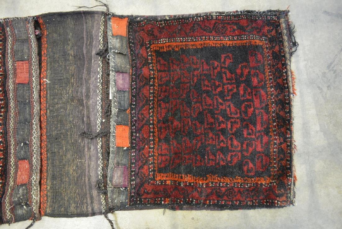 "Oriental tribal saddle blanket, 56""L x 24""W. Sides of - 3"