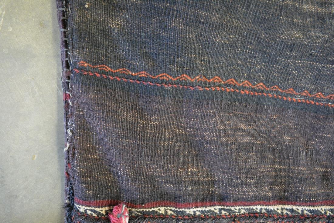 "Oriental tribal saddle blanket, 56""L x 24""W. Sides of - 4"