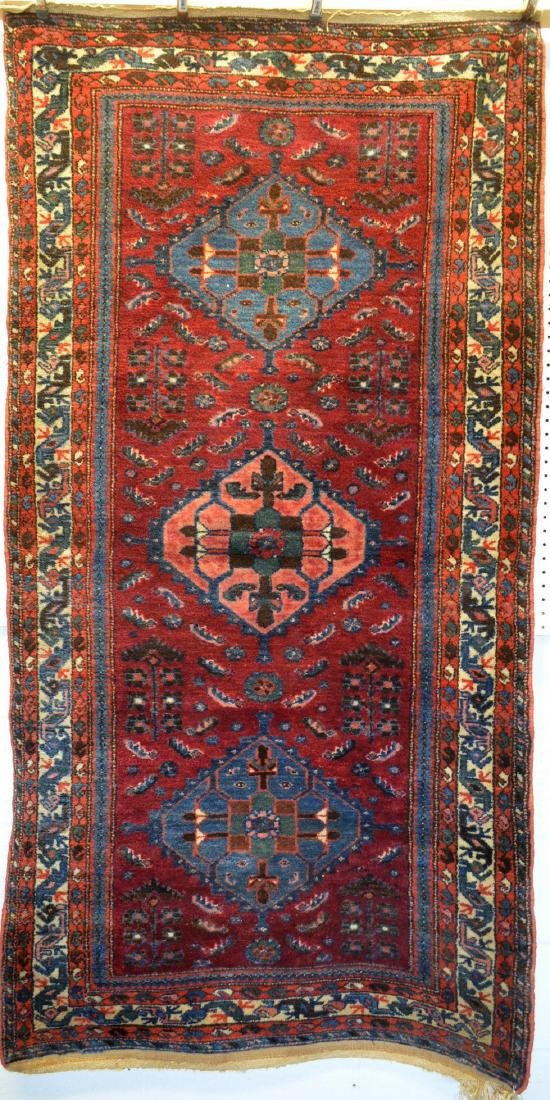 Good oriental scatter rug, hand knotted – early 20th