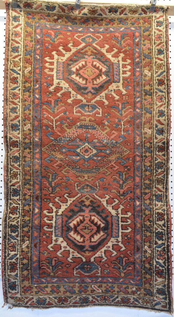 Two oriental scatter rugs, hand knotted, in good - 2