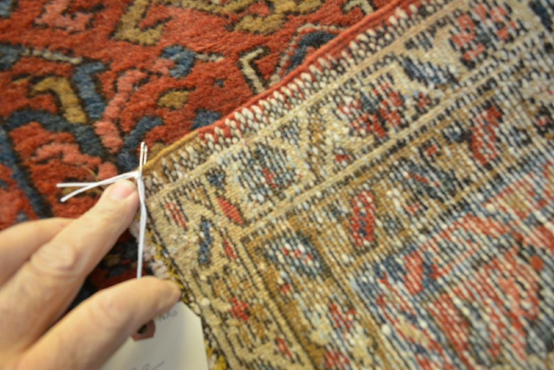 Two oriental scatter rugs, hand knotted, in good - 4