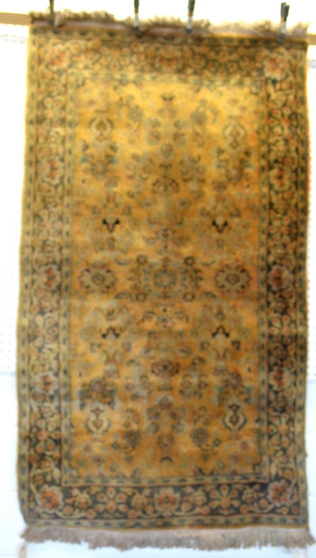 Two oriental scatter rugs, hand knotted, in good - 5