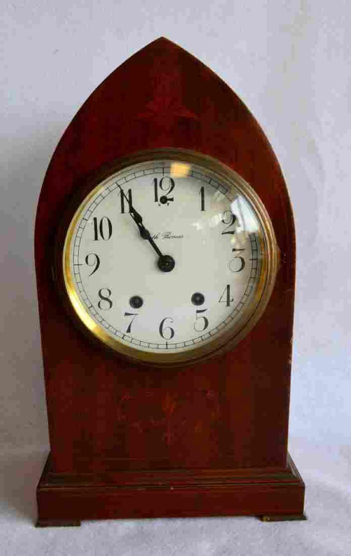 Seth Thomas beehive shaped mahogany mantle clock with