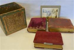 Three Victorian photo albums containing mostly family