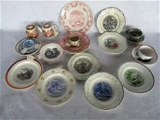 Large grouping of mostly child related porcelain plates