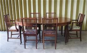 Centennial Hepplewhite style mahogany dining room set