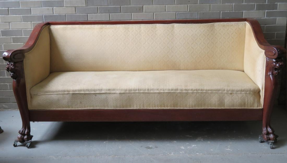 Empire Sofa classical empire sofa a mahogany crest rail that