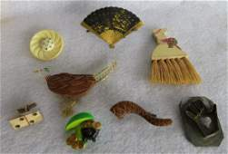 Grouping of 7 decorative miniature lady's articles