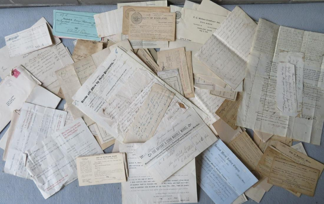 Large grouping of ephemera, most from the Holmes family