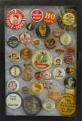 Grouping of 36 advertising pinback buttons 17 early