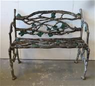 Outstanding American cast iron rustic twig & acorn