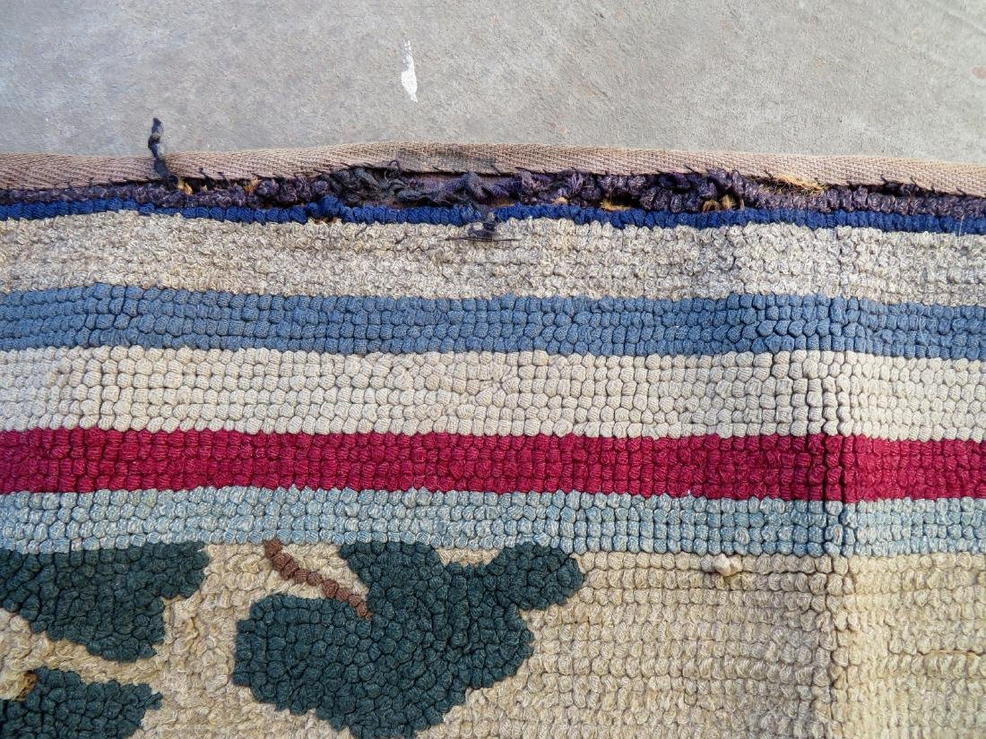 Pictorial hooked rug of 2 sporting dogs at point - - 2