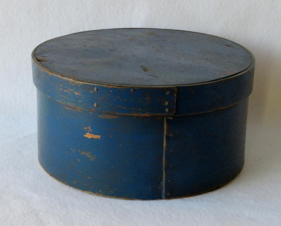 Pantry box in original blue paint, 19th century.