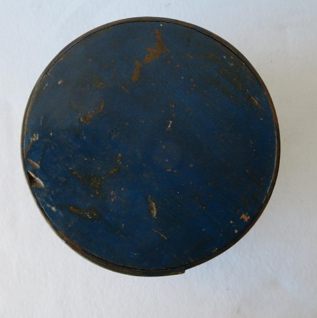 Pantry box in original blue paint, 19th century. - 2