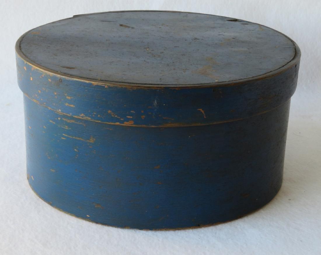 Pantry box in original blue paint, 19th century. - 3