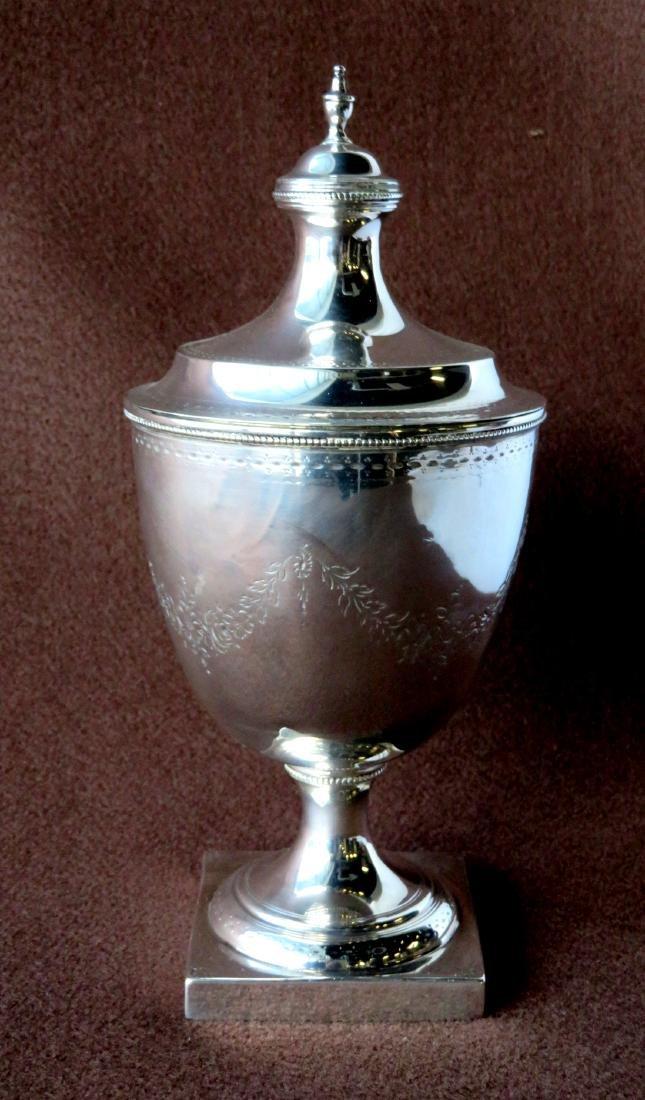 Hester Bateman (London 1709-1794). Silver sugar urn.