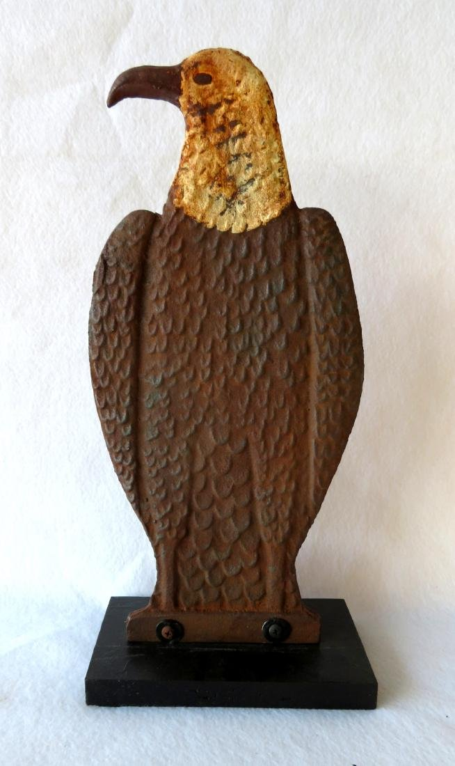 Cast iron windmill weight in the form of an eagle with