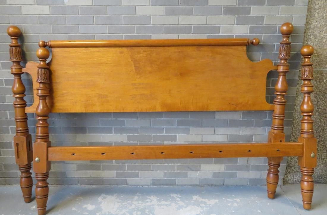 Maple king size rope bed by Leonards, Seekonk Mass.