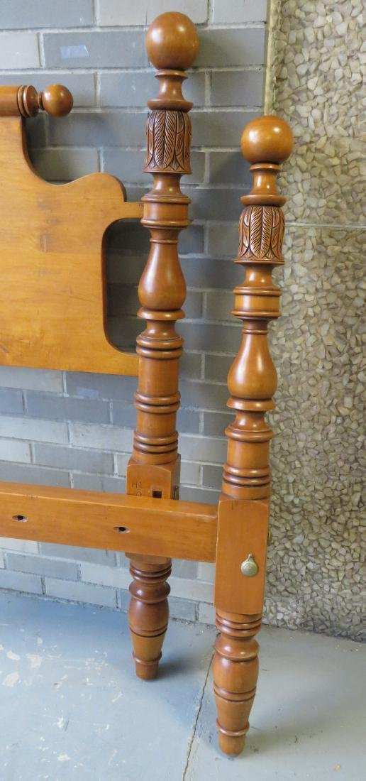 Maple king size rope bed by Leonards, Seekonk Mass. - 3