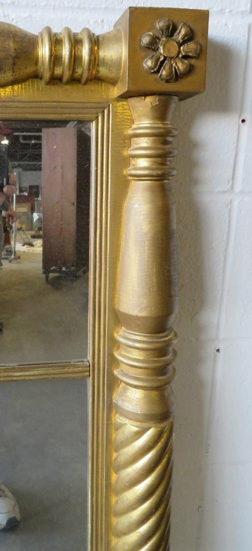 Large Sheraton double panel wall mirror having twisted - 3