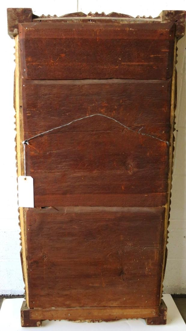 Large Sheraton double panel wall mirror having twisted - 6