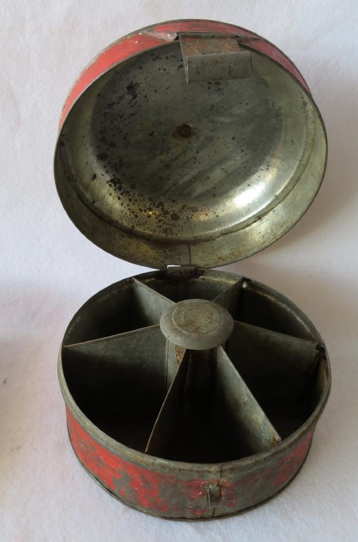 Two country items including a chrome yellow knife box - - 4