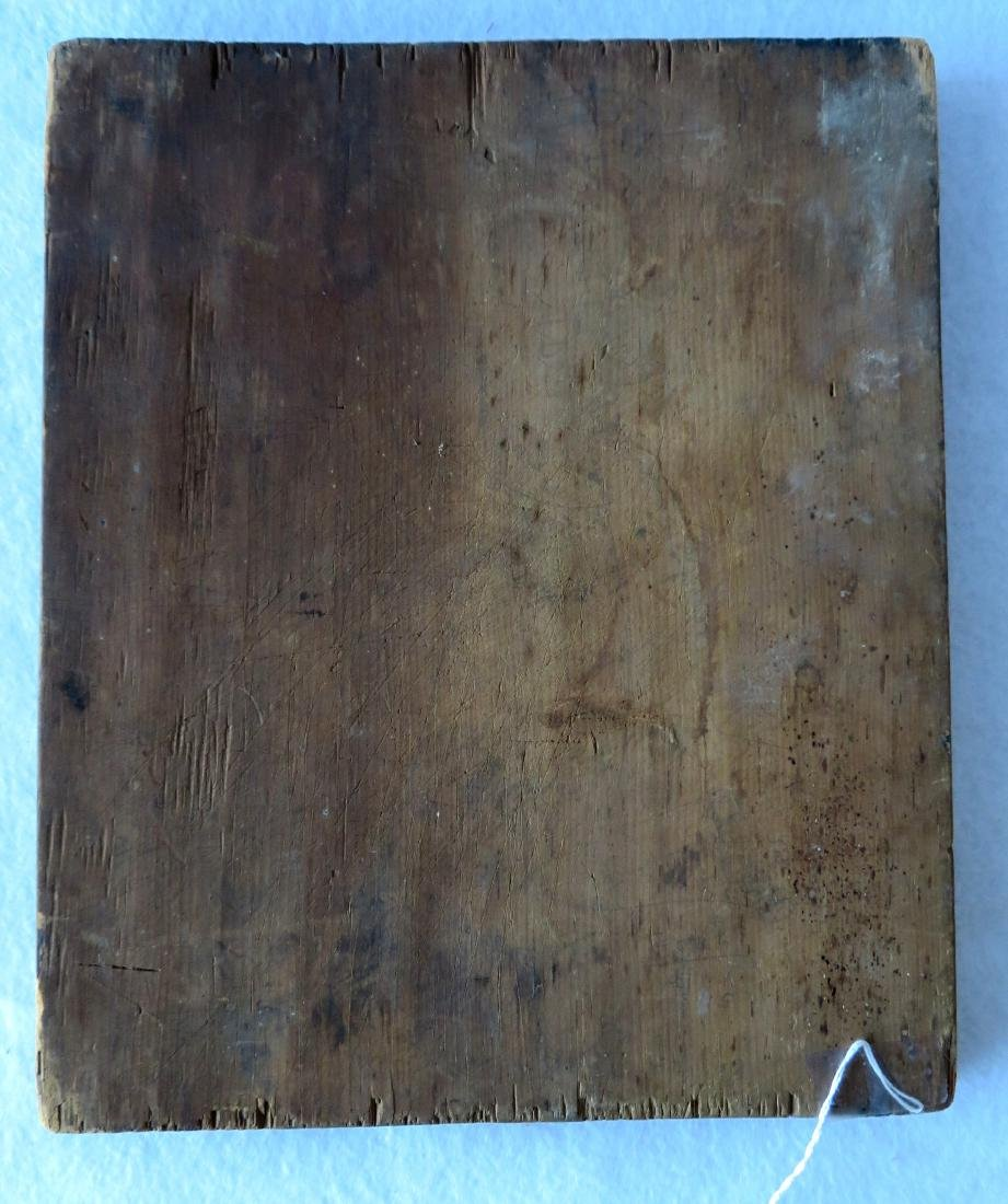 Very primitive naïve game board with black painted - 2