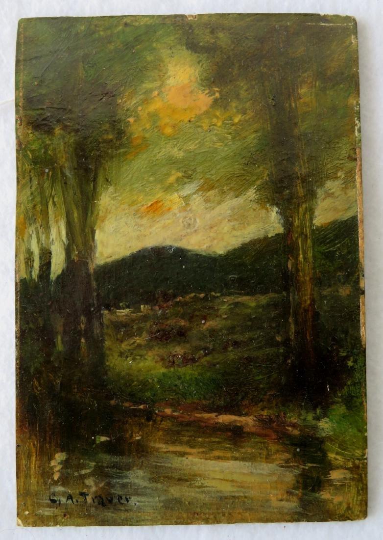 George A. Traver NY 1864-1928. O/B Impressionist