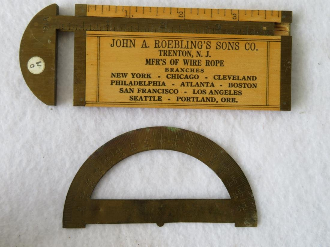 Six vintage measuring devices including a primitive - 2