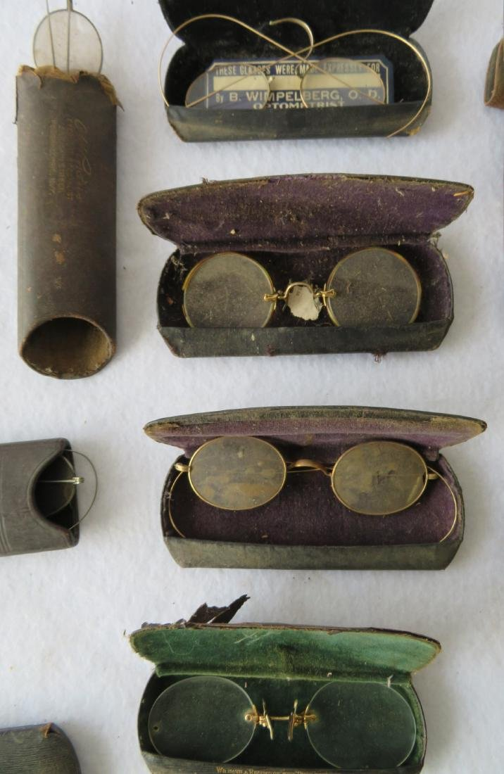 Grouping of 19 pairs of Civil War era and later eye - 6