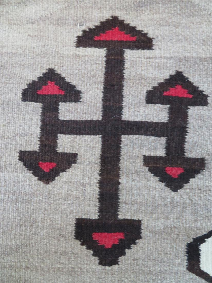 "Large Navajo rug in mostly earth tone colors - 4' 9"" x - 3"
