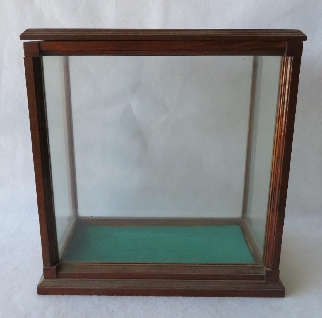 "Oak framed table top display case - 20""W x 11.5""D x"
