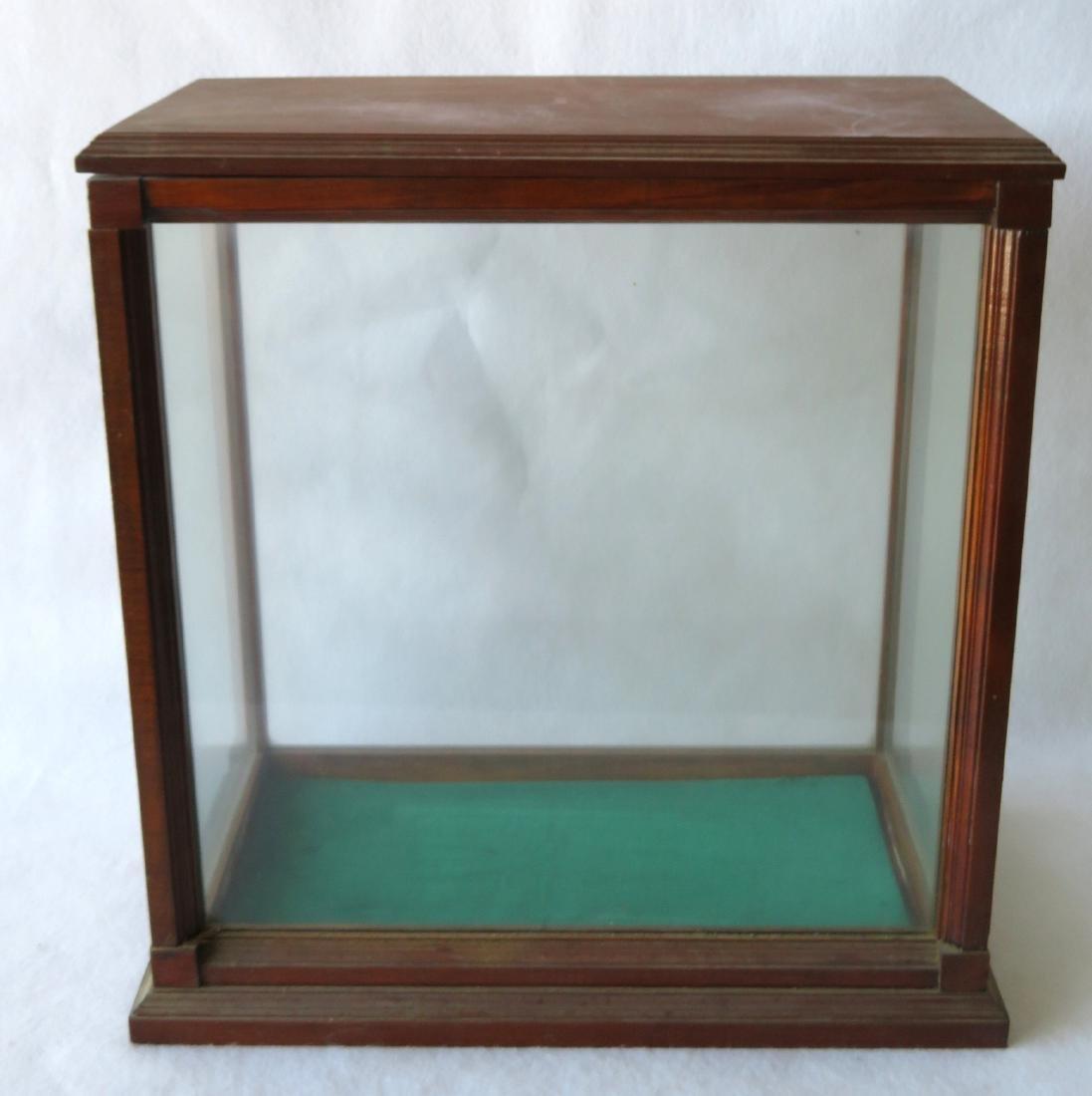 "Oak framed table top display case - 20""W x 11.5""D x - 2"
