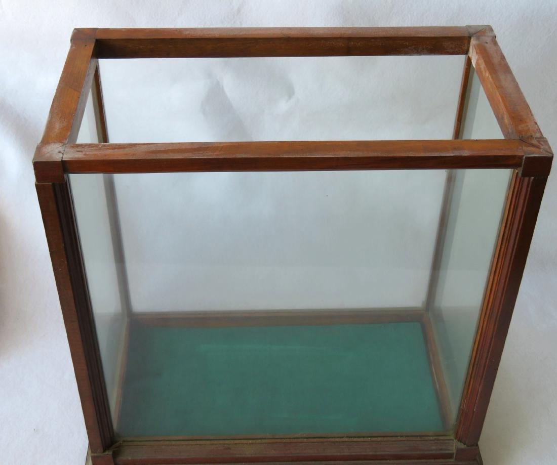 "Oak framed table top display case - 20""W x 11.5""D x - 3"