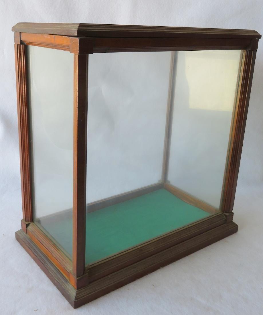"Oak framed table top display case - 20""W x 11.5""D x - 4"