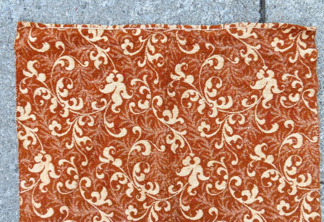 A large homespun ingrain carpet in earth tone colors, - 4