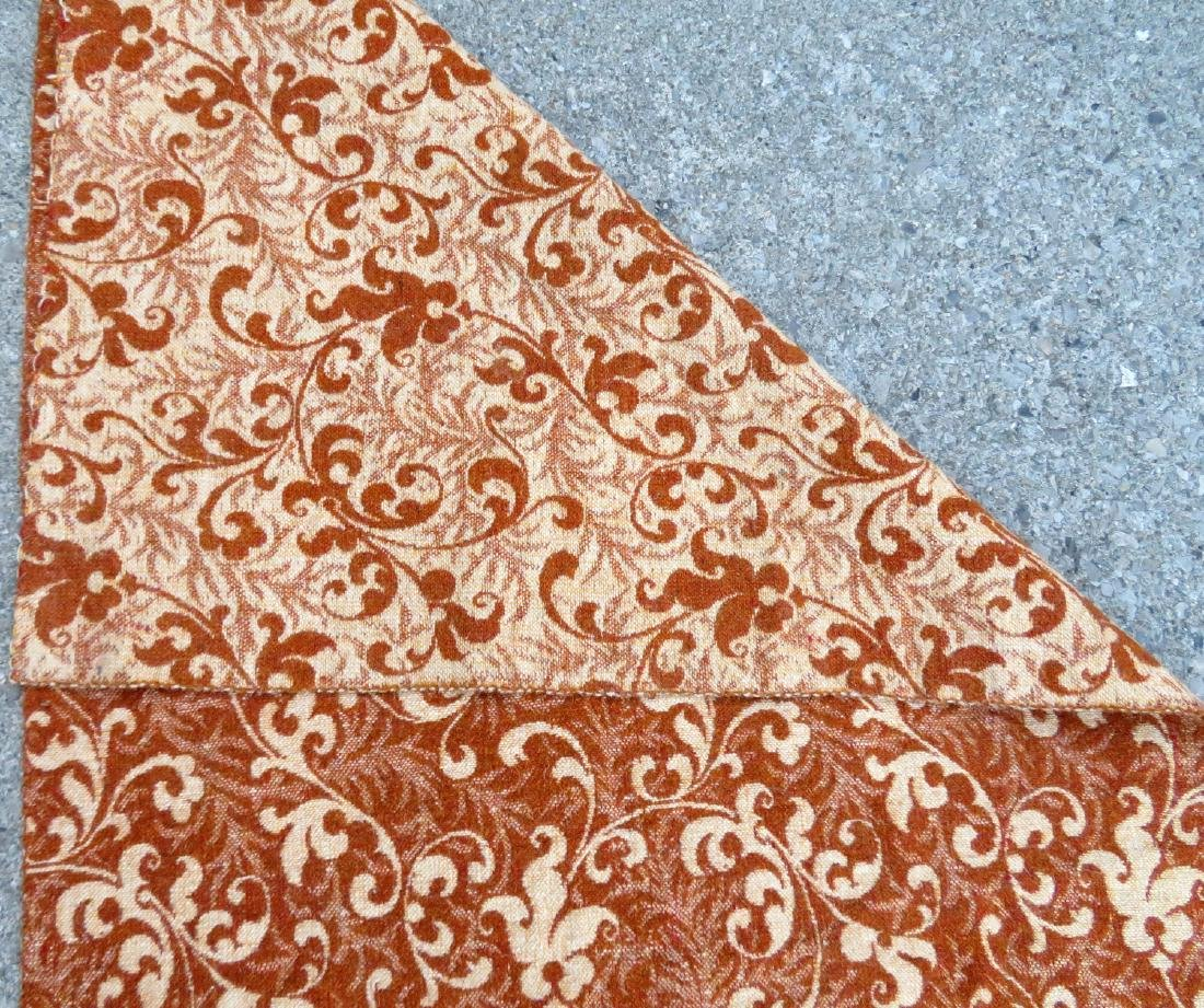 A large homespun ingrain carpet in earth tone colors, - 6