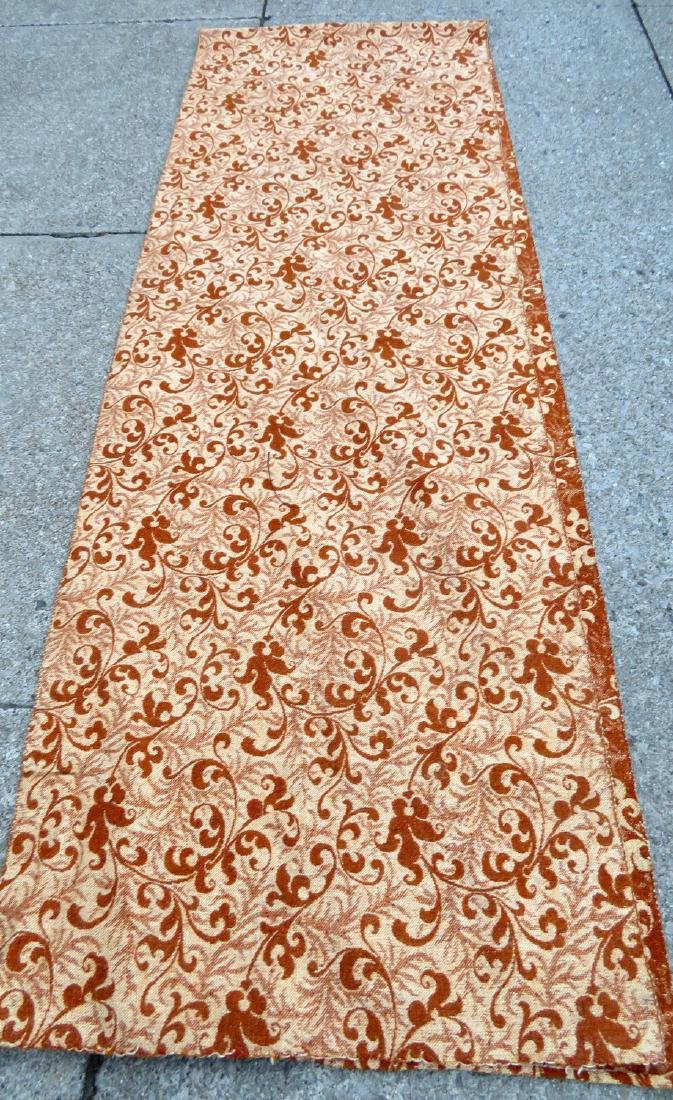 A large homespun ingrain carpet in earth tone colors, - 7