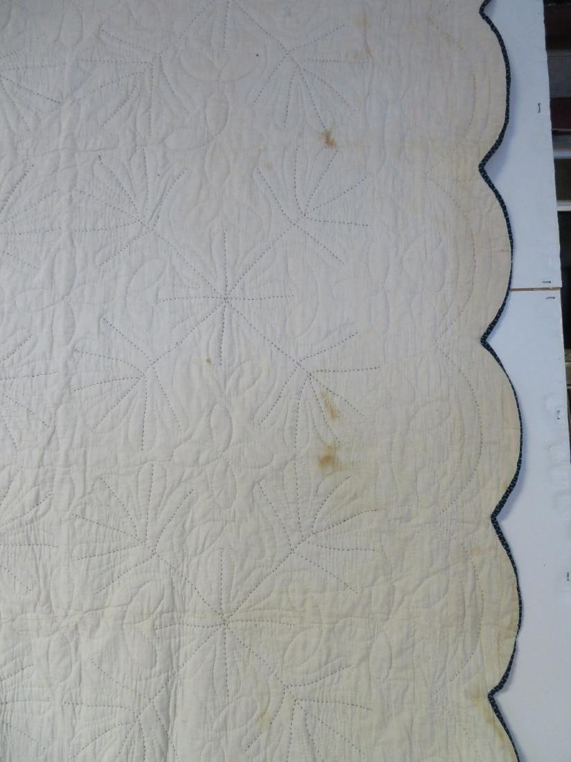 Hudson Valley blue and white applique quilt in the oak - 9