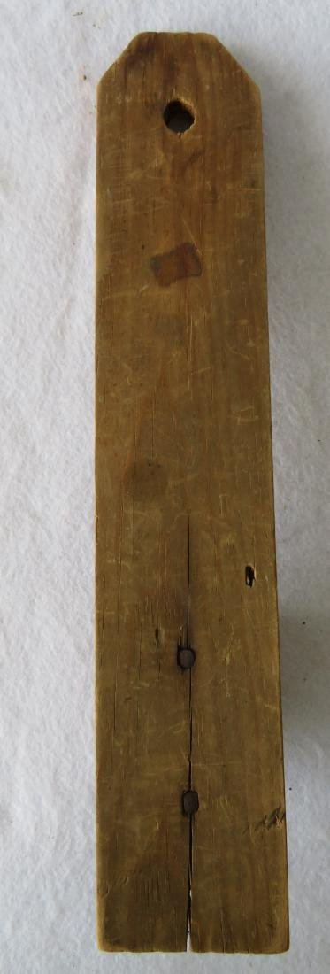 Early pine hanging candle wall sconce, early to mid - 4