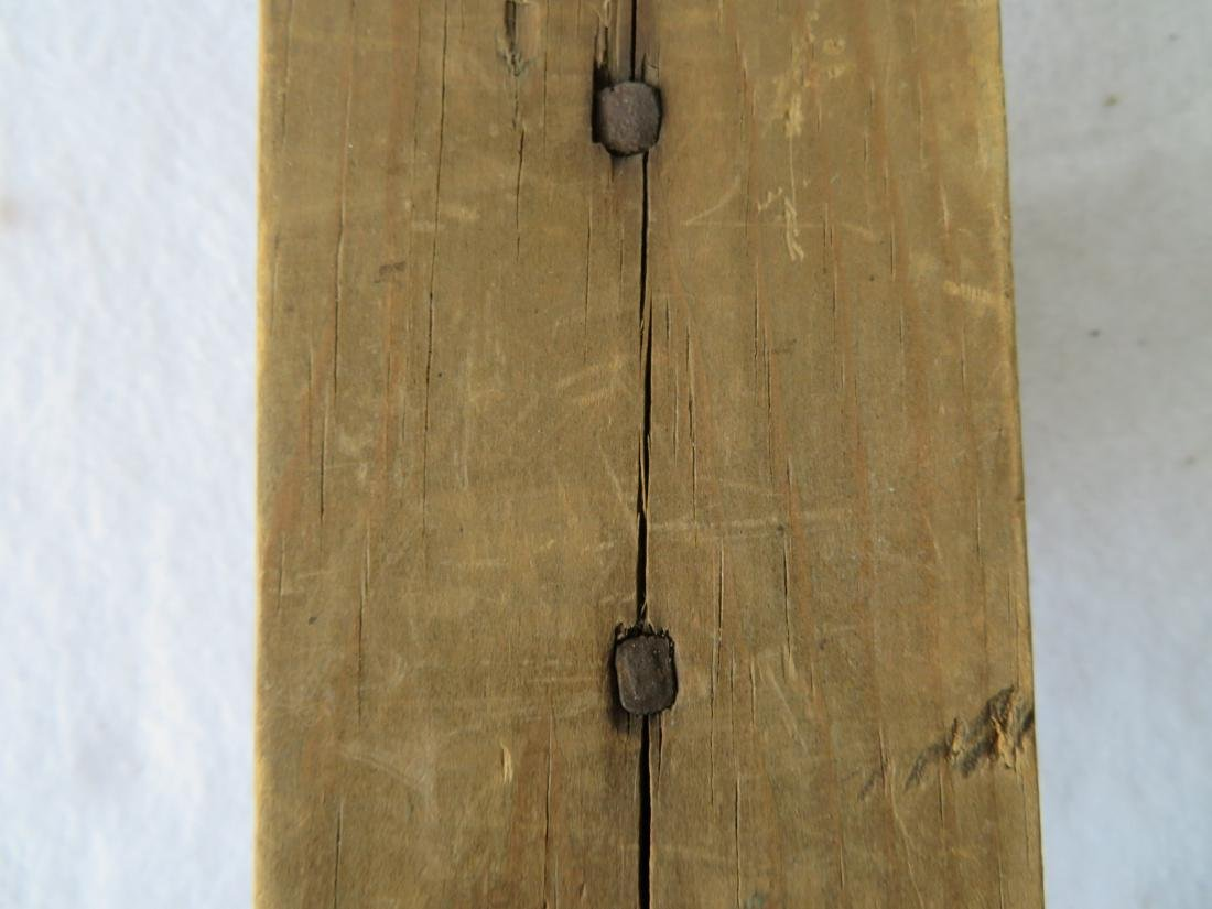 Early pine hanging candle wall sconce, early to mid - 5